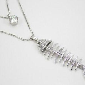Betsey Johnson Fishbone Necklace